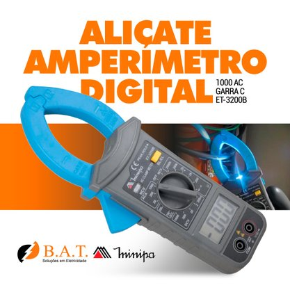 ALICATE AMPERIMETRO DIGITAL ET-3200B