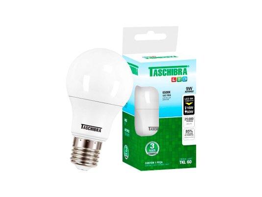 LAMPADA BULBO LED E27 9W 6500K - TASCHIBRA