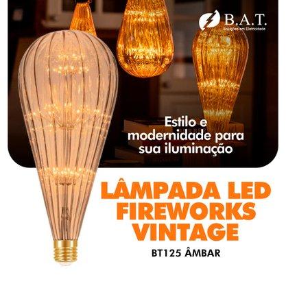 LÂMPADA LED FIREWORKS VINTAGE BT125 ÂMBAR