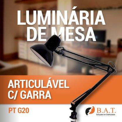 LUMINÁRIA DE MESA ARTICULÁVEL PRETA