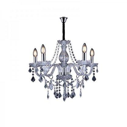 Lustre de Cristal Taschibra Glam Transparente para 6 Lampadas E14
