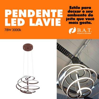 PENDENTE LED LAVIE 78W 3000K CAFÉ