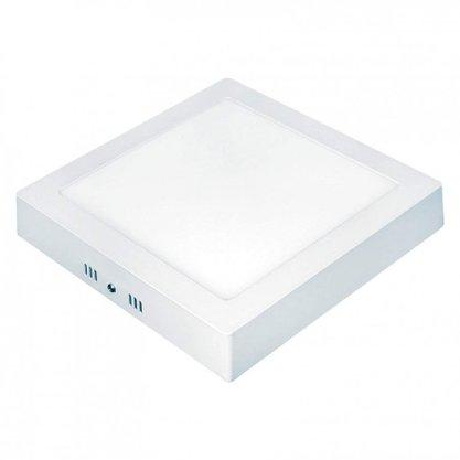 PLAFON LED 18W LUX QUADRADO SOBREPOR 3000K