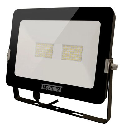 REFLETOR LED 50W 3000K PRETO
