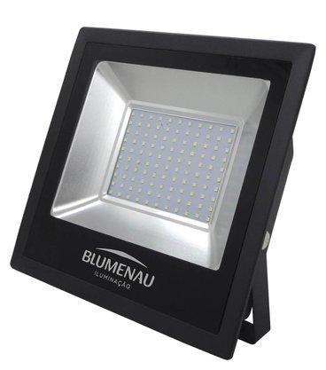 REFLETOR LED SLIM 100W 6500K PRETO
