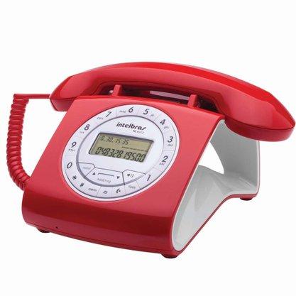 TELEFONE COM FIO TC8312 VERMELHO INTELBRAS